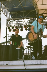 Austin Klewan on percussion and Dylan Thomas on guitar