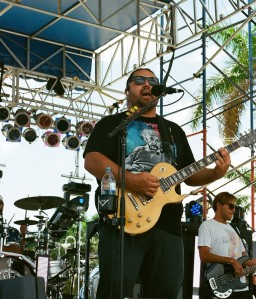 Iration frontman Micah Pueschel, with bassist Adam Taylor in the background