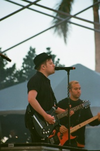 Fall Out Boy frontman Patrick Stump, with bassist Pete Wentz