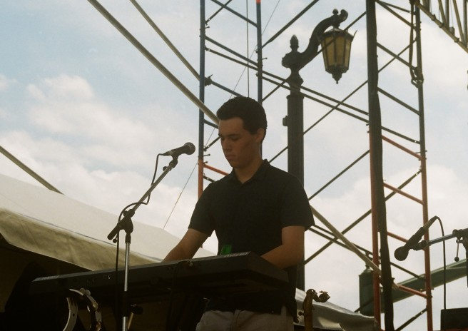 Austin Klewan of Jumbo Shrimp Inc. on keyboard