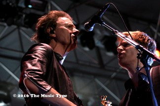 Bassist John Taylor with guitarist Dominic Brown